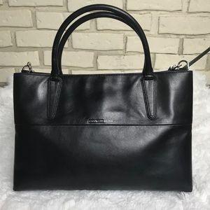 Coach Soft Borough Bag Black Leather Pristine!